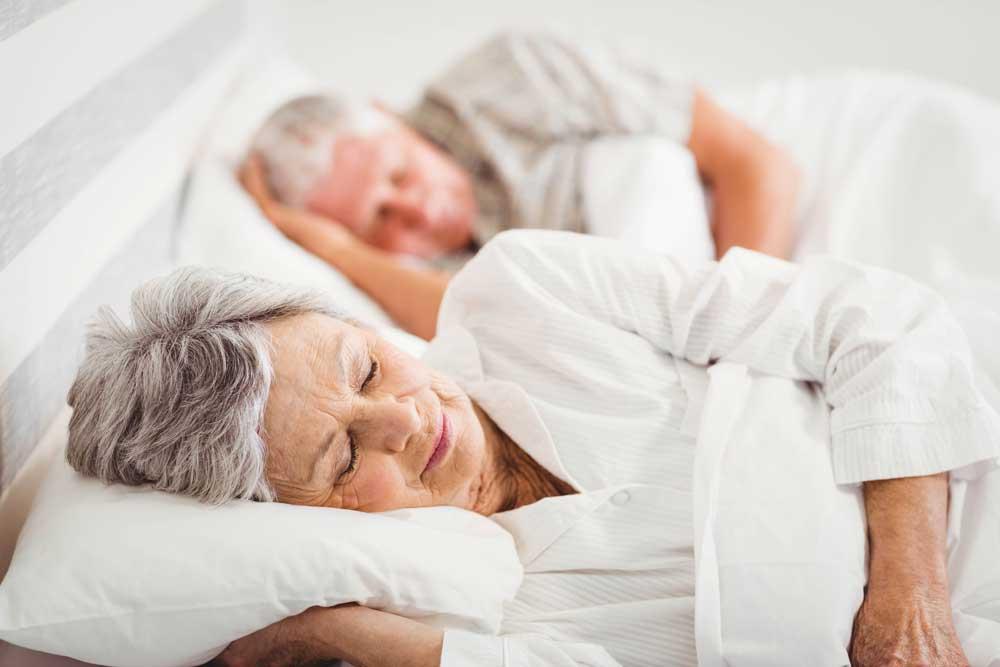 Seniors sleeping